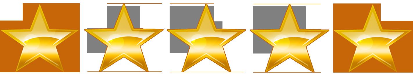 5 étoiles en recompense de notre qualité par les mariés sur le site mariage.net